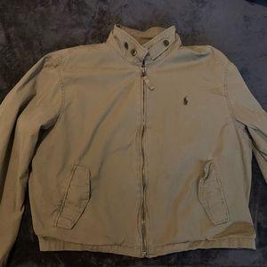 Polo Ralph Lauren camel bomber jacket